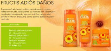 200 packs de Garnier Fructis Adios Daño - Muestragratis.com