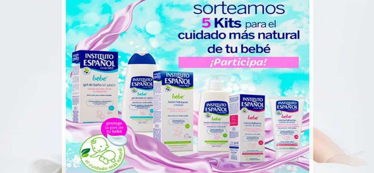 Sorteo de 5 kits para el cuidado más natural de tú bebé de Instituto español - Muestragratis.com