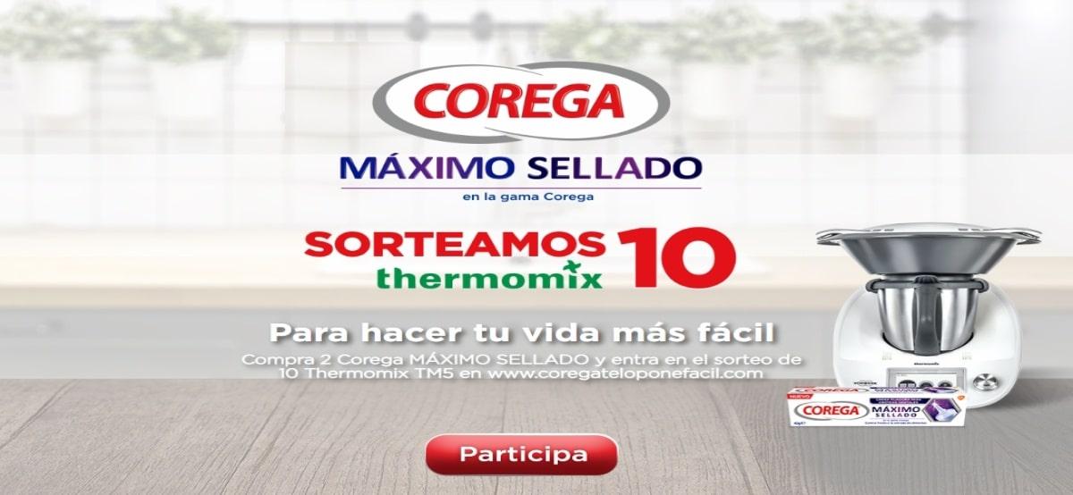 Corega sortea 10 Thermomix de 1199 € - Muestragratis.com