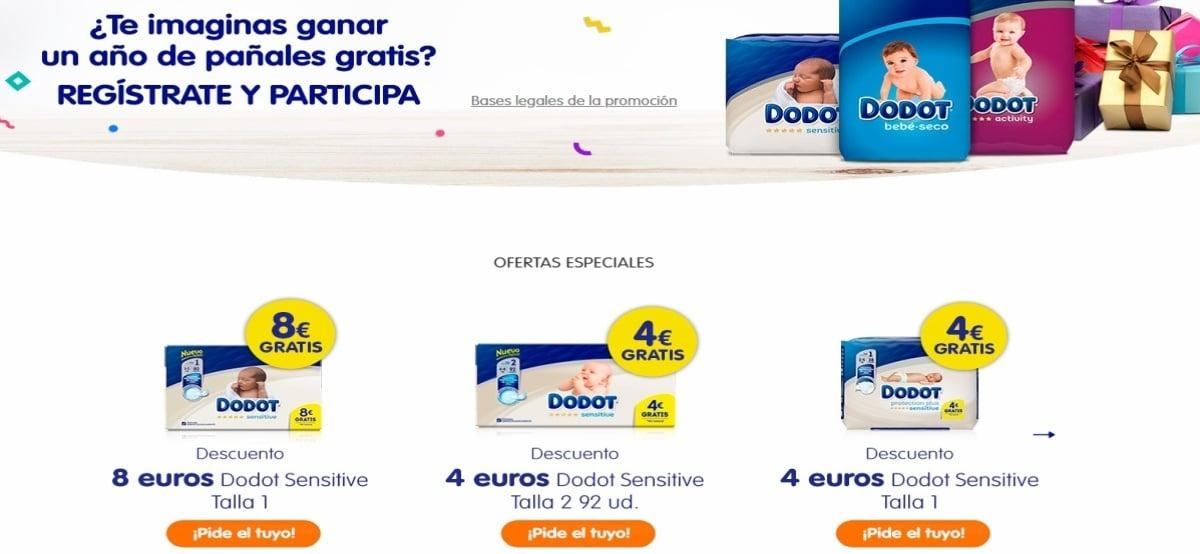 Dodot regala muestras gratis y sortea 1 año de premios para tu bebé - Muestragratis.com