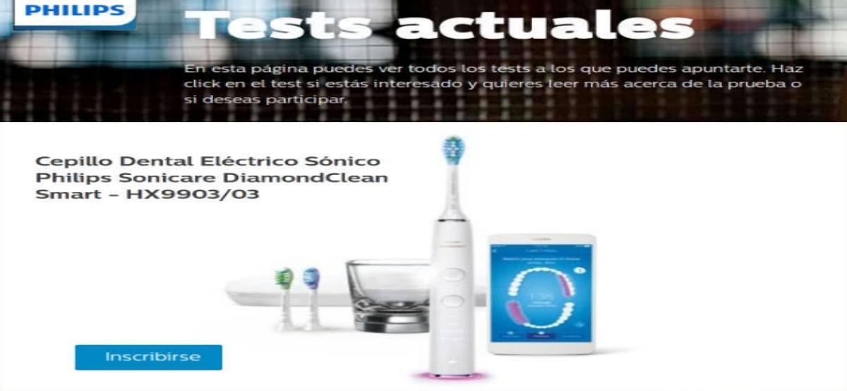 Philips regala cepillos dentales Sonicare Diamond - Muestragratis.com