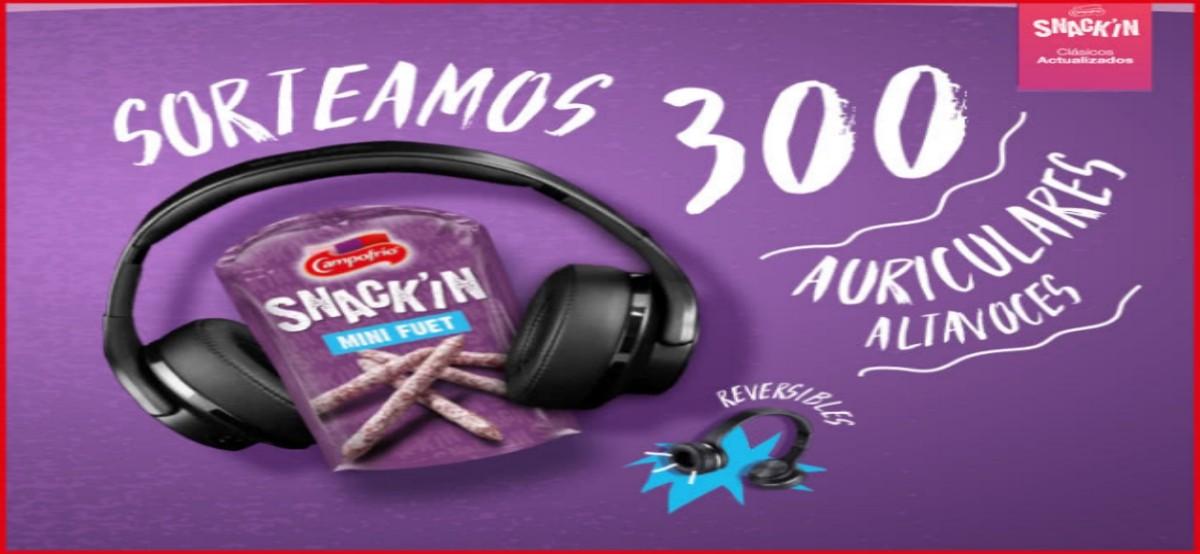 Sorteo de 300 Auriculares con Snack'in