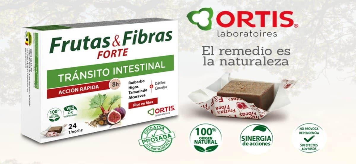 Muestra gratis de frutas & fibras forte de Laboratorios Ortis - Muestragratis.com