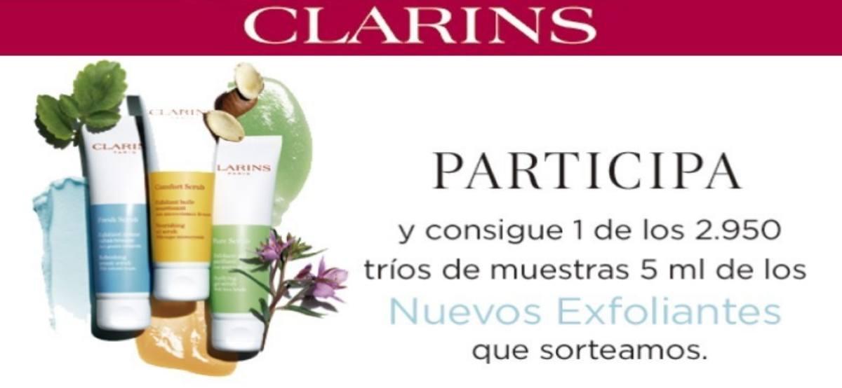 Clarins ofrece 2950 trios de sus nuevos exfoliantes - Muestragratis.com