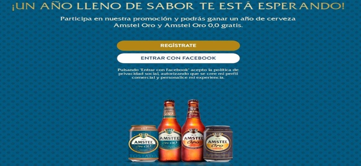 Heineken te invita a ganar 1 año de cervezas Amstel 0.0 y Amstel Oro - Muestragratis.com