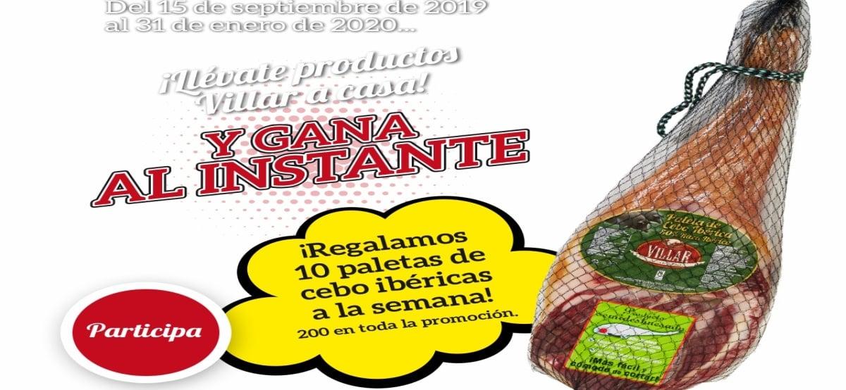 Promoción Villar sabor y calidad te invita a participar en el sorteo de 200 paletas de Cebo Ibérico - Muestragratis.com