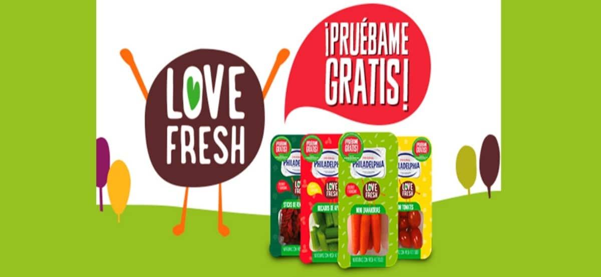 Promoción Love Fresh de Philadelphia te invita a probarlos gratis - Muestragratis.com