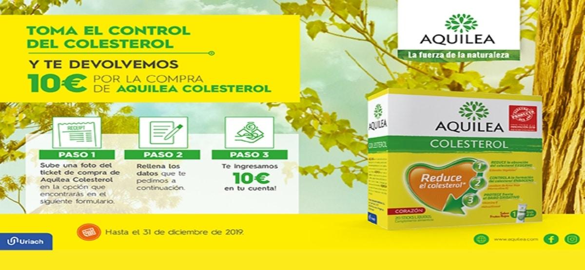 Reembolso de 10€ con Aquilea Colesterol - Muestragratis.com