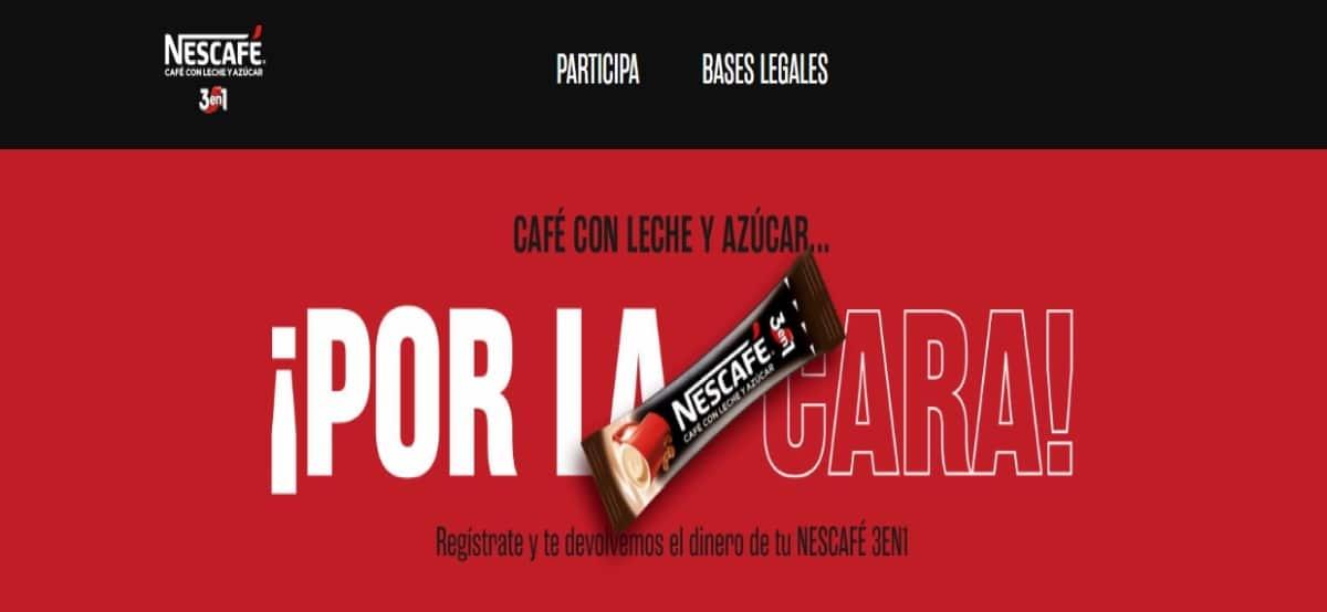 Reembolso de Nescafé 3 en 1 - Muestragratis.com
