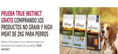 True Instinct ofrece reembolso en comida de perros - Muestragratis.com