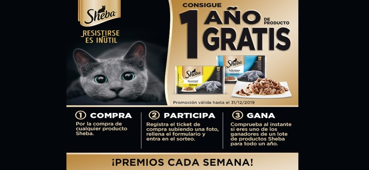 Consigue 1 Año De Comida Para Tu Gato Con Sheba