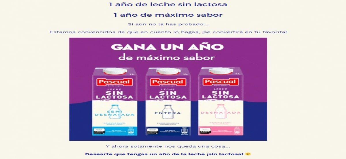 Consigue 1 Año De Leche Sin Lactosa Con Pascual