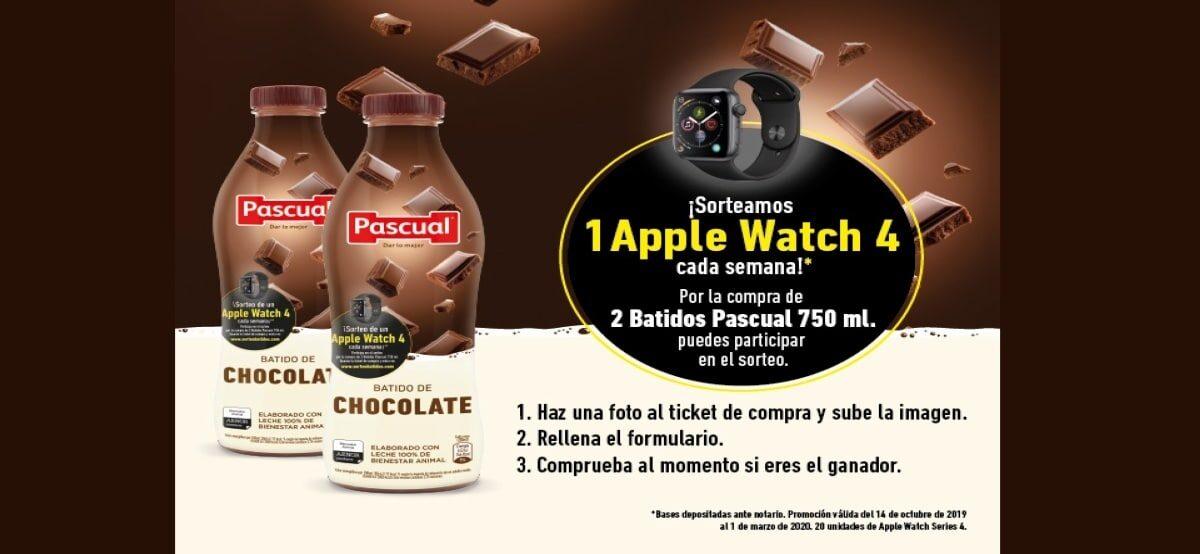 Gana 1 De Los 20 Appel Iwatch 4 Comprando Batidos De Chocolate Pascual