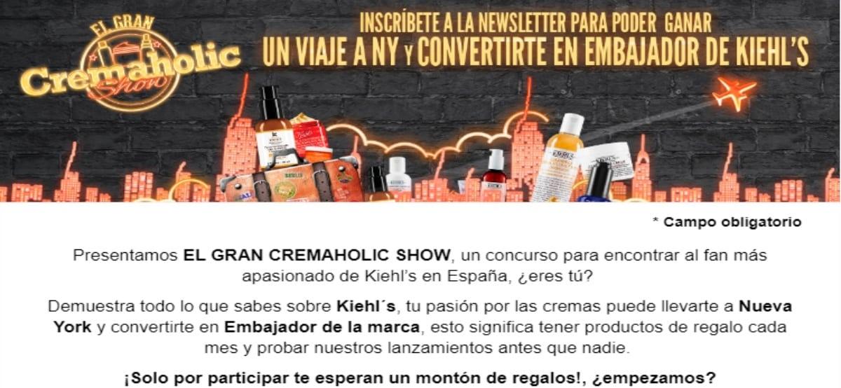 Kiehl's Te Invita A Participar En La Promoción Cremaholic Show Que Sortea Un Viaje A New York Para 2