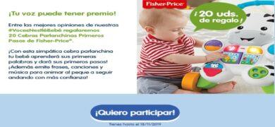 Nestlé Baby Te Invita A Probar Gratis Sus Bolsitas Para Que Opines Y Ganes Un Premio Fisher Price