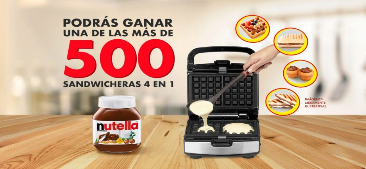 Gana Fabulosas Sandwicheras Comprando Nutella