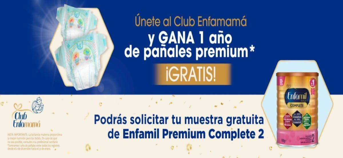 Participa En El Sorteo De 1 Años Gratis De Pañales Y Pide Tu Muestra Gratis De Enfamil Premiun Complete 2
