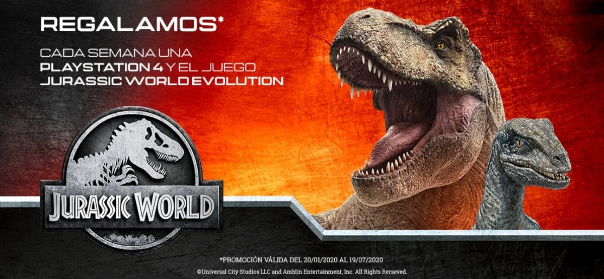 La Piara te Invita A Gana Un Playstation 4 + Un Juego De Jurassic World Evolution