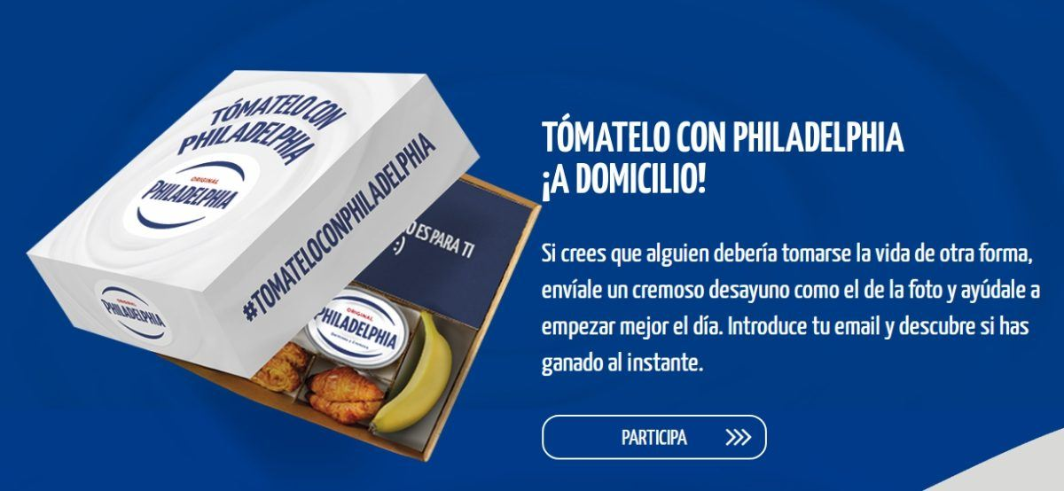 Tomatelo Con Philadelphia Y Gana Un Desayuno A Domicilio