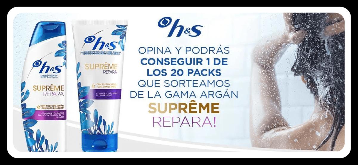 Gana Un Champú Y Un Suavizante Argán Supreme De H&s