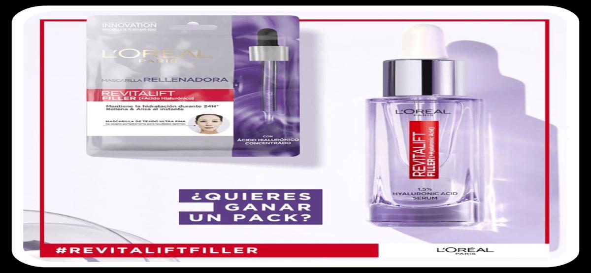 Gana Un Pack Revitalift Filler + 1 Mascarilla Rellenadora De L`oreal Paris