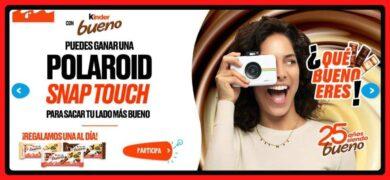 Kinder Sortea Cámaras Polaroid Snap Touch Todos Los Días