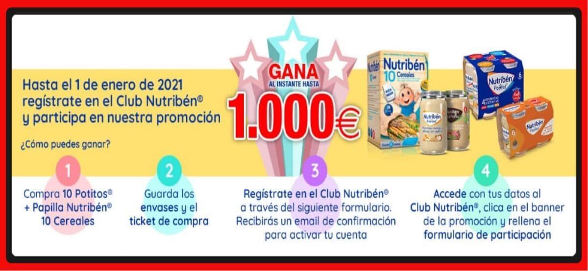 Participa Y Gana Importes De 1.000€, 100€, 50€ Y 20€ Con Nutribén