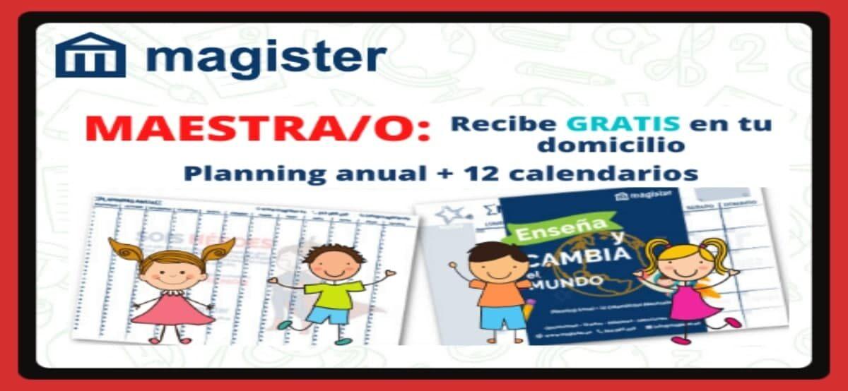 Consigue 12 Calendarios + Planning Anual Gratis